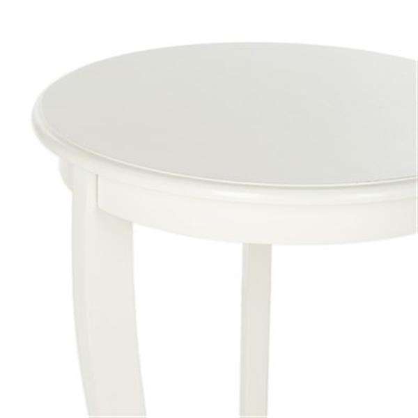 Safavieh Mary 26-in Distressed Cream Pedestal Wood Side Table