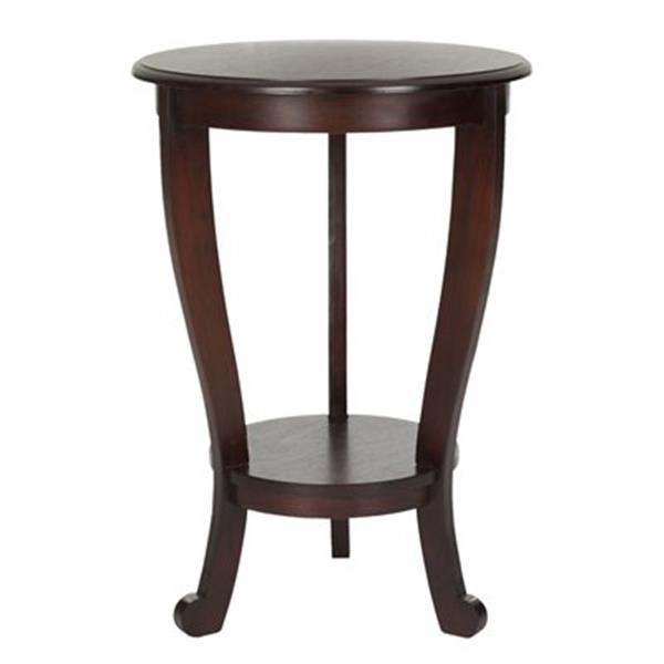 Safavieh Mary 26-in Dark Cherry Pedestal Wood Side Table