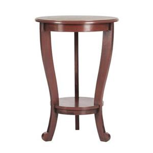 Safavieh Mary 26-in Red Pine Pedestal Wood Side Table