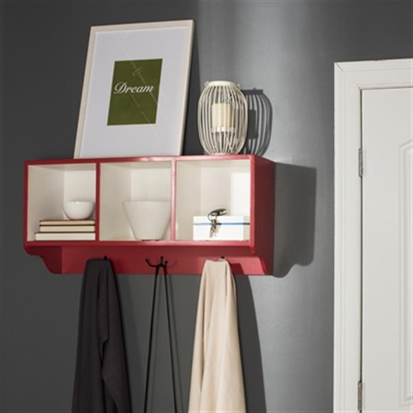 Safavieh American Home 15-in x 33.50-in Red Alice Wall Shelf