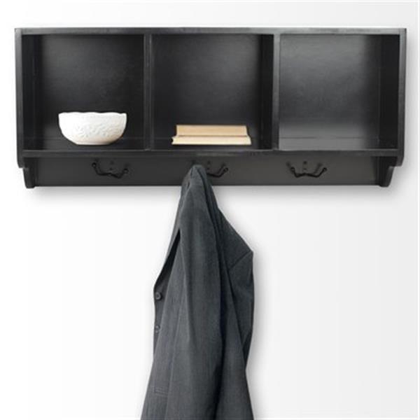 Safavieh American Home 15-in x 33.50-in Black Alice Wall Shelf