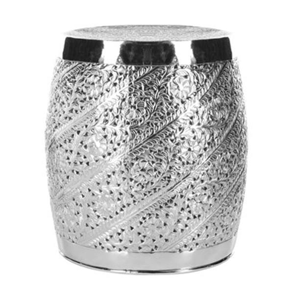 Safavieh Liam 20.9-in Nickel Plated Aluminum Etched End Table