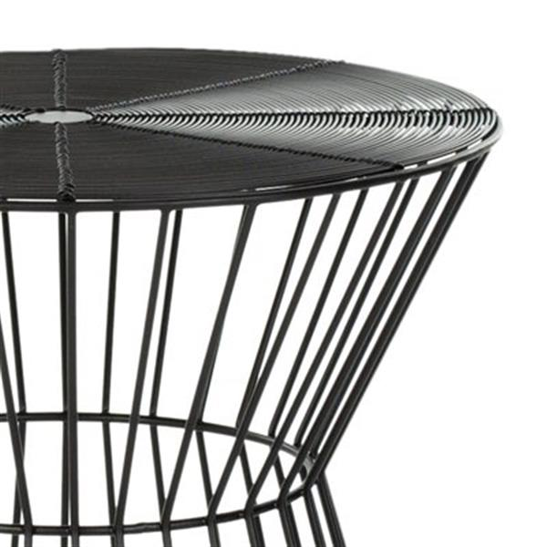 Safavieh Fox Adele 17.3-in Black Iron Wire End Table