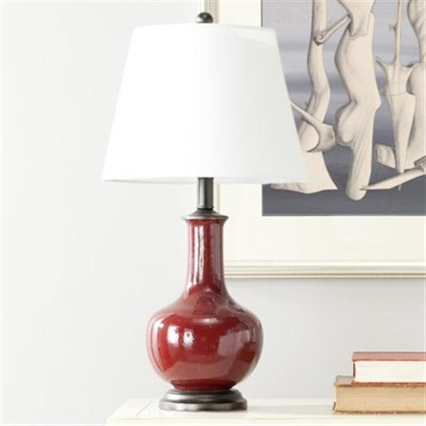 Safavieh 25-in Red Carol Anne Table Lamp (Set of 2)