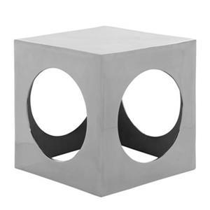Safavieh Gunnar 15.4-in Silver Aluminum Cube End Table