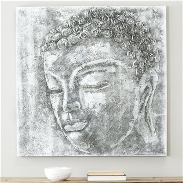 Safavieh 39.40-in x 39.40-in Buddha Black/White Wall Art
