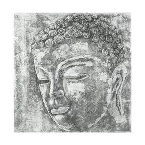 Safavieh 39.40-in x 39.40-in Buddha Black/White Wall Art