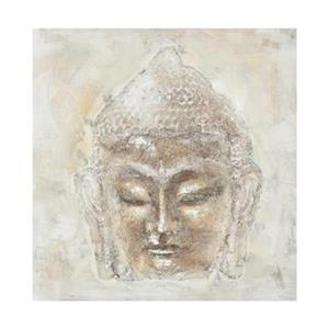 Safavieh 39.40-in x 39.40-in Buddha Orange/White Wall Art