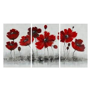 Safavieh31.50-in x 59-in Red Flower wall Art