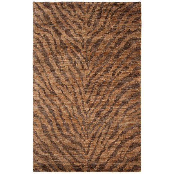 Safavieh Bohemian 5-ft x 3-ft Natural and Black Tiger Print Area Rug