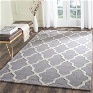 Safavieh Cambridge 10-ft x 2.5-ft Silver and Ivory Area Rug