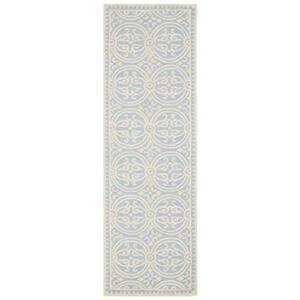 Safavieh Cambridge 30-in Light Blue/Ivory Runner