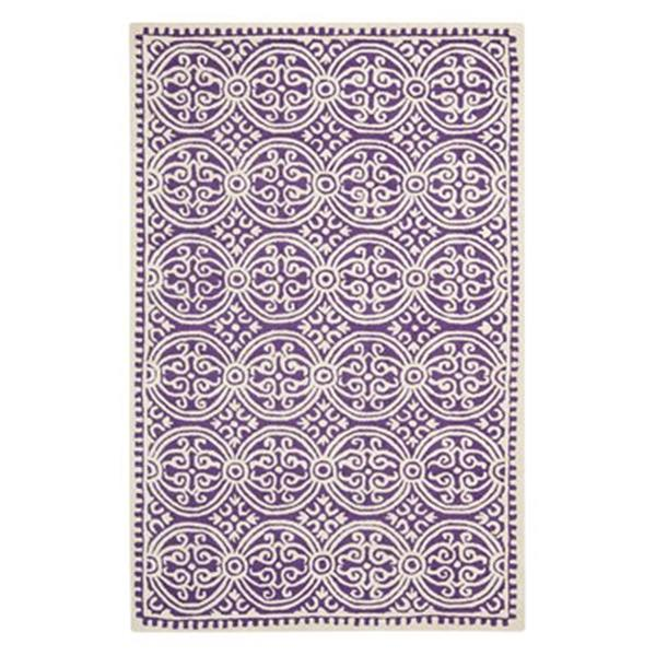 Safavieh Cambridge 6-ft x 4-ft Purple and Ivory Area Rug