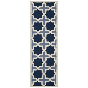 Safavieh Cambridge 30-in Navy/Ivory Runner