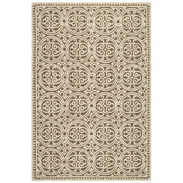 Safavieh Cambridge 6-ft x 4-ft Brown and White Area Rug