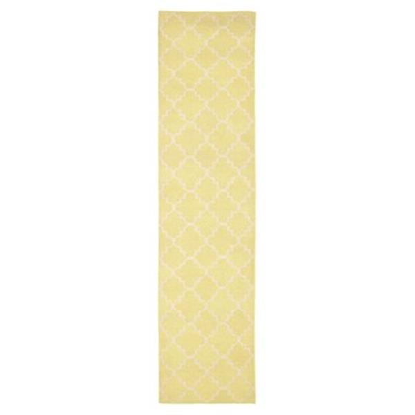 Safavieh Dhurries 30-in Light Green/Ivory Runner