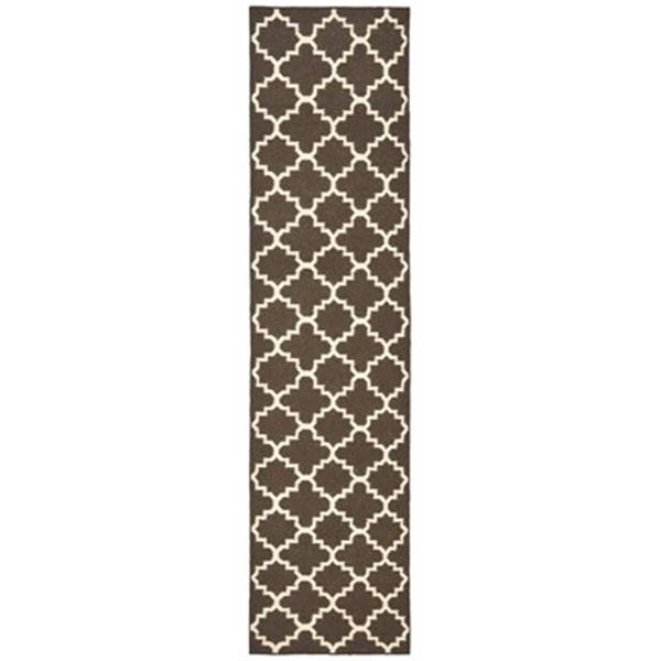 Safavieh Dhurries 30-in Brown/Ivory Runner