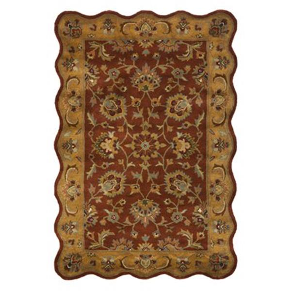 Safavieh Heritage 6-ft x 4-ft Red and Natural Area Rug