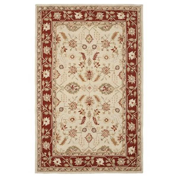 Safavieh Chelsea 5.75-ft x 3.75-ft Ivory and Rust Area Rug