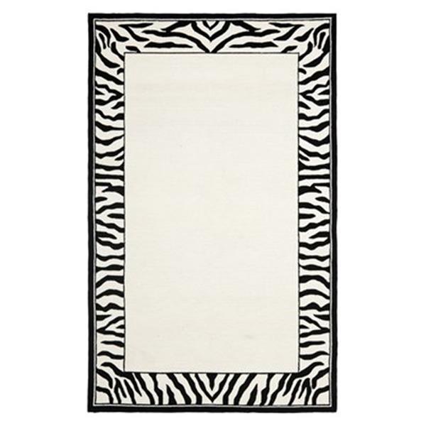 Safavieh Chelsea 5.75-ft x 3.75-ft Zebra Print Area Rug