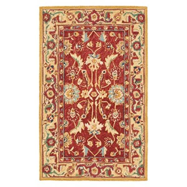 Safavieh Chelsea 5.75-ft x 3.75-ft Red and Ivory Area Rug