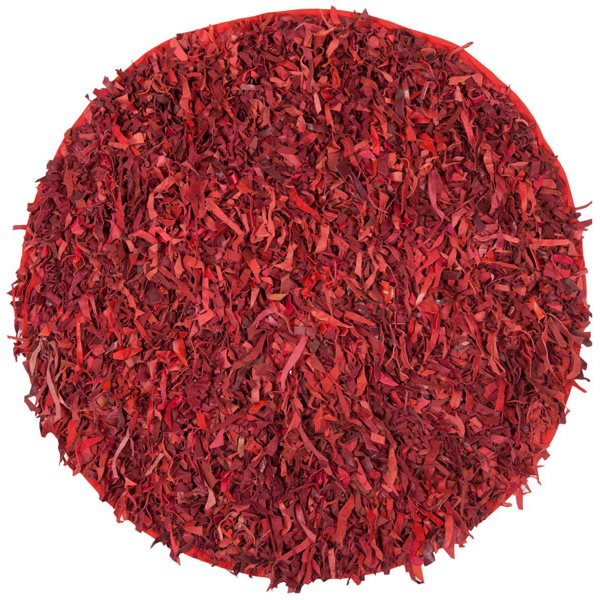 Safavieh Leather Shag 6-ft Red Area Rug