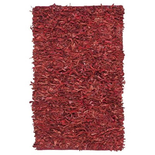 Safavieh Leather Shag 6-ft x 6-ft Red Area Rug