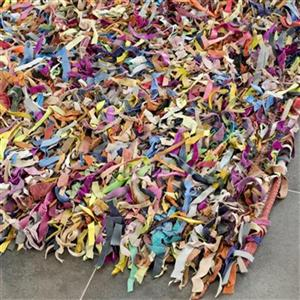 Safavieh Leather Shag 6-ft x 6-ft Multicolour Area Rug
