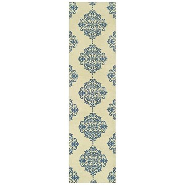 Safavieh Chelsea 30-in Ivory/Blue Runner