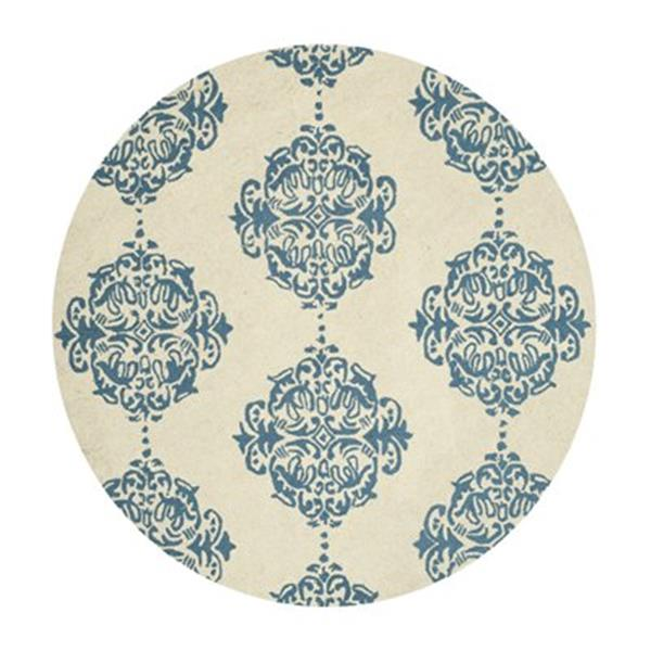 Safavieh Chelsea 5-ft Ivory and Blue Area Rug