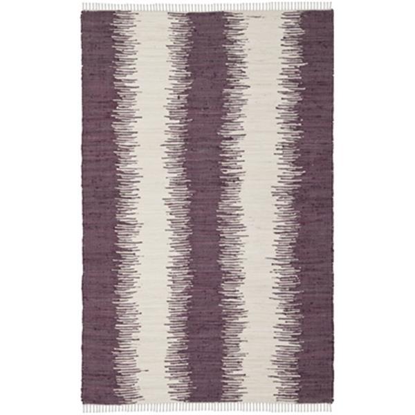 Safavieh Montauk 8-ft x 5-ft Purple Area Rug