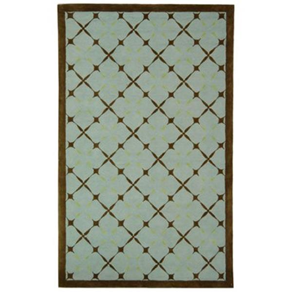 Safavieh Newport 5-ft x 3-ft Blue and Brown Area Rug