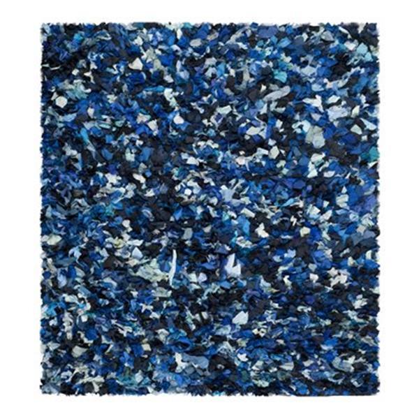 Safavieh Rio Shag 6-ft x 6-ft Blue Area Rug