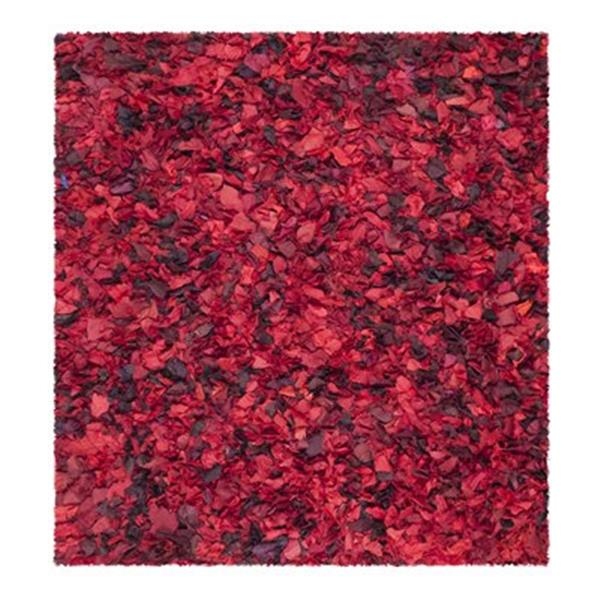 Safavieh Rio Shag 6-ft x 6-ft Red Area Rug