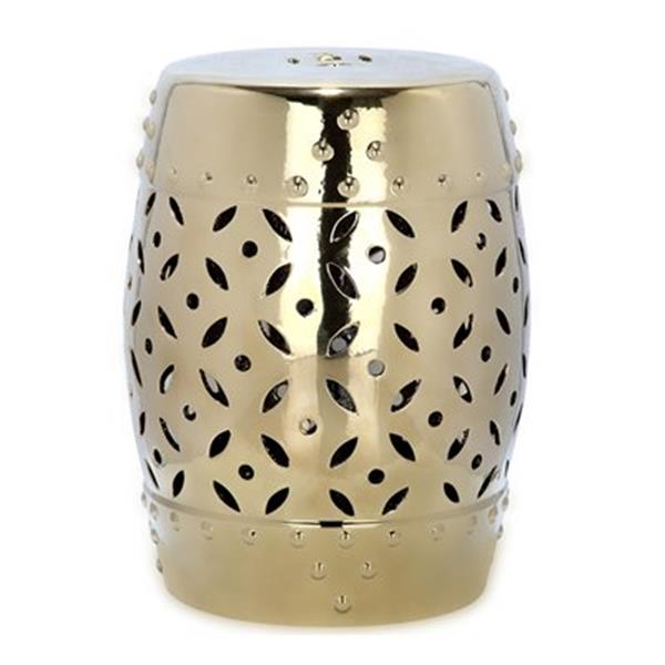 Safavieh Lattice Coin 18.50-in Gold Garden Stool