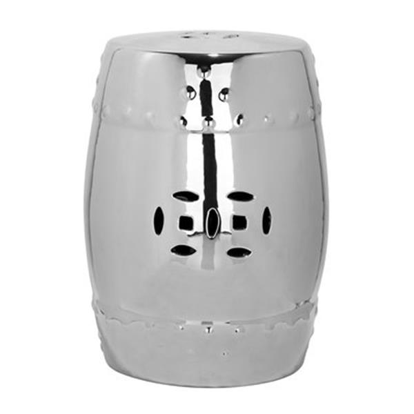 Safavieh 18-in Silver Modern Ming Garden Stool