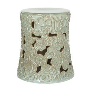 Safavieh Cloud 17.75-in Reactive Aqua Ceramic Garden Stool