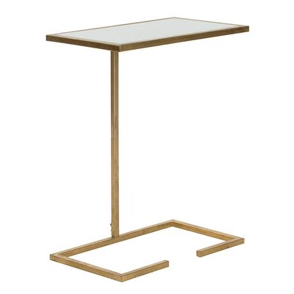 Safavieh Neil 21-in Gold/White Accent Table