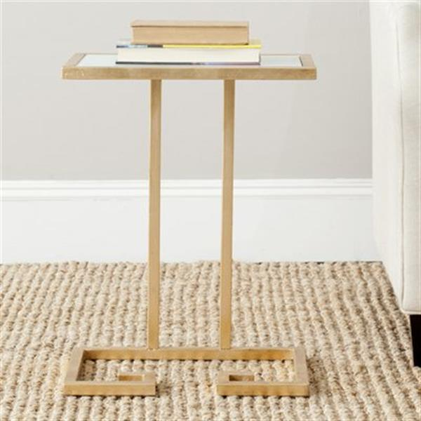 Safavieh Murphy 21-in Gold/White Accent Table