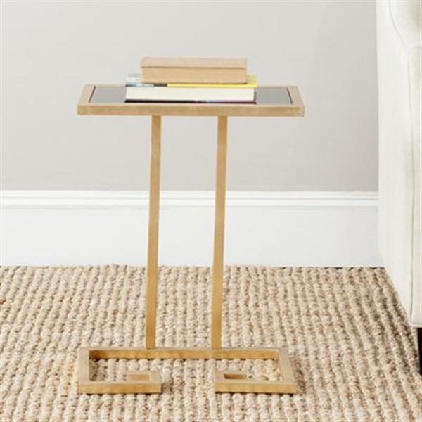 Safavieh Murphy 21-in Gold/Black Brass Accent Table