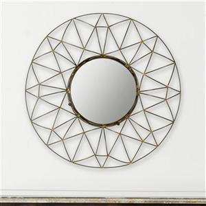 Safavieh Gossamer 26-in x 26-in Natural Iron Mirror
