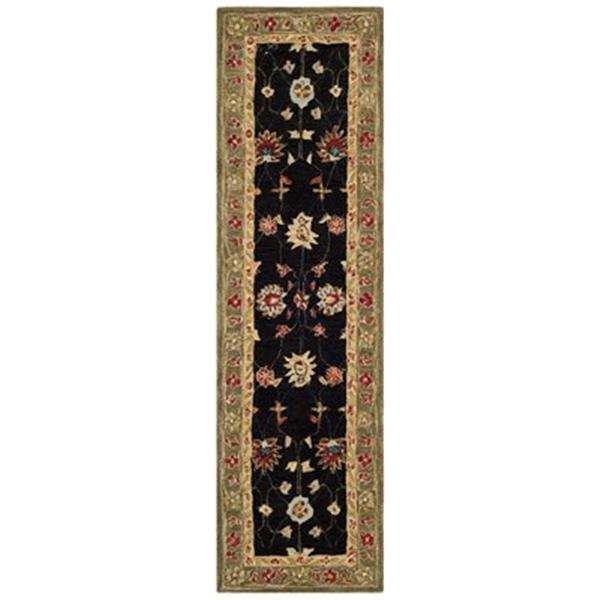 Safavieh Anatolia 8-ft x 2.25-ft Black and Green Area Rug