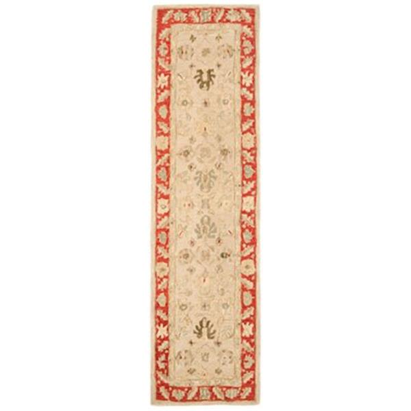 Safavieh Anatolia 8-ft x 2.25-ft Taupe and Red Area Rug