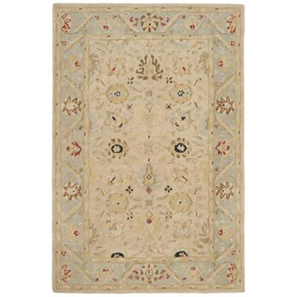 Safavieh Anatolia 8-ft x 2.25-ft Natural and Soft Turquoise Area Rug