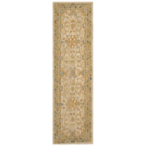 Safavieh Anatolia 2-ft x 8-ft Ivory and Brown Rectangular Floral Tufted Area Rug