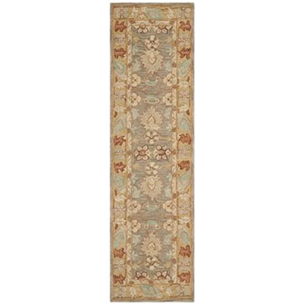 Safavieh Anatolia 2-ft x 8-ft Brown And Camel Rectangular Floral Tufted Area Rug