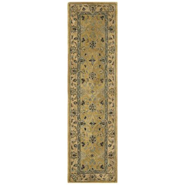 Safavieh Anatolia 2-ft x 8-ft Golden Pear/Smoke Rectangular Floral Tufted Area Rug