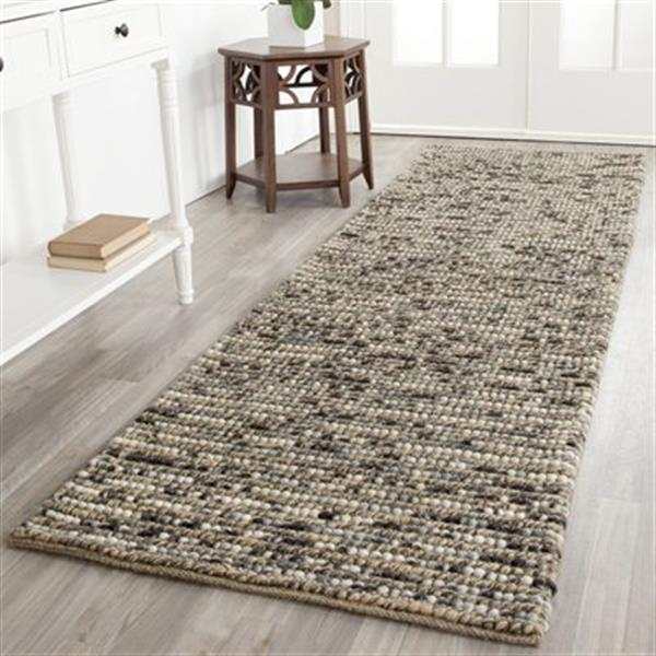 Safavieh Bohemian 3-ft x 10-ft Blue and Multi-Colored Rectangular Striped Knotted Area Rug