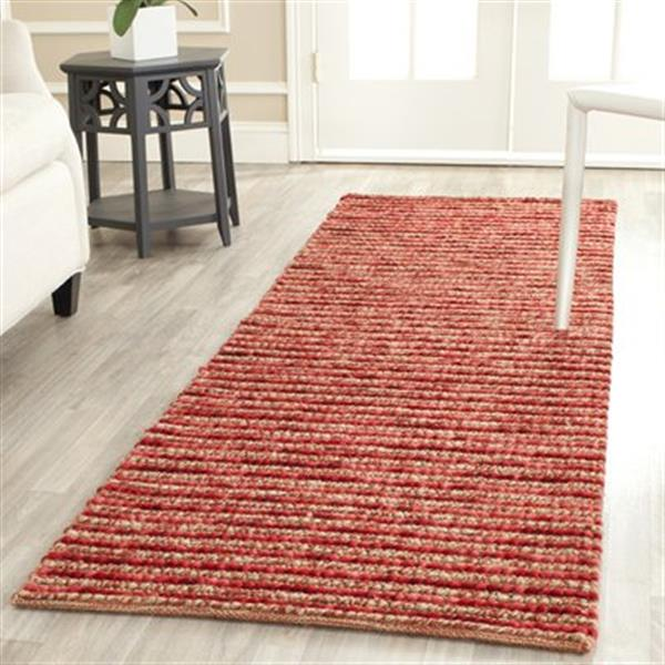 Safavieh Bohemian 3-ft x 8-ft Red and Multi-Colored Rectangular Striped Woven Area Rug