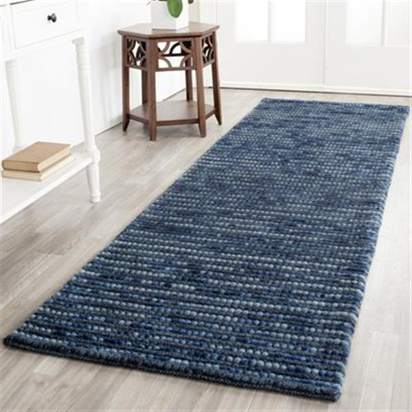 Safavieh Bohemian 3-ft x 8-ft Dark Blue and Multi-Colored Rectangular Striped Woven Area Rug